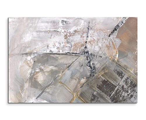 Paul Sinus Art 80x60cm Fotoleinwand Leinwanddruck Kunstdruck Wandbild grau schwarz weiß Schlieren