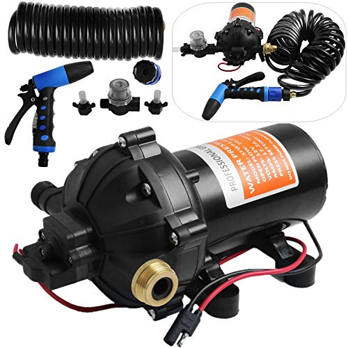 Happybuy RV Water Pump 5.3 GPM 5.5 Gallons Per Minute 12V Water Pump...