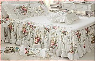Juego de cama de matrimonio estilo Shabby Catturcotage FF 269 vestidura 150 x 200 cm, funda nórdica/colcha 200 x 230 cm, fundas de almohada x2 unidades 74 x 47 cm