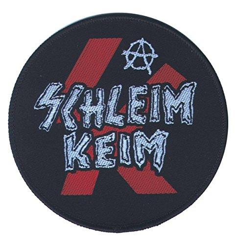 """Schleimkeim - """"Logo Aufnäher, Farbe: Schwarz/Rot"""