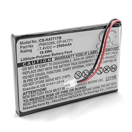 vhbw Li-Polymère Batterie 2500mAh (7.4V) pour système de Navigation GPS Haier 805-01-NL, HERLT71, HLT71, HLT71BAT