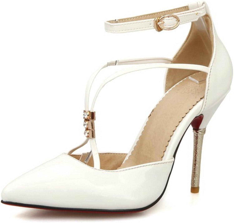 BalaMasa Womens Solid Dress Patent Leather Pumps-shoes