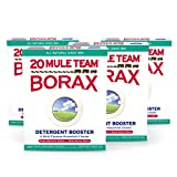 20 Mule Team All Natural Borax Laundry Detergent Booster & Multi-Purpose Household Cleaner, 65 Ounce, 4 Count