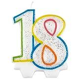 Vela para cumpleaños número 18 Amscan 9900808, de 7,5cm