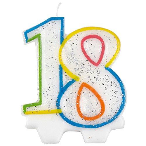 amscan 9900808 Kerze zum 18. Geburtstag, 7,5 cm, für Meilensteine im Leben