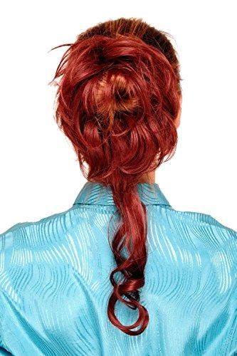 WIG ME UP - Postiche avec peigne, volumineux, boucles tombantes, baroque, rouge, YZF-3072HT-35