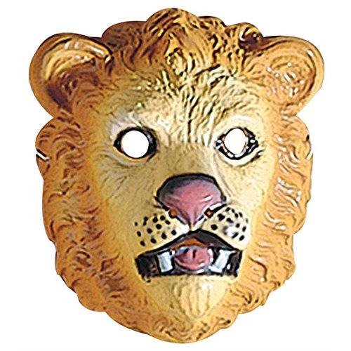 Amakando Masque Lion pour Enfant Visage Chat Sauvage Animal Zoo déguisement Cirque en Plastique Dur félin Accessoire fête d'anniversaire d'enfants déguisement Carnaval