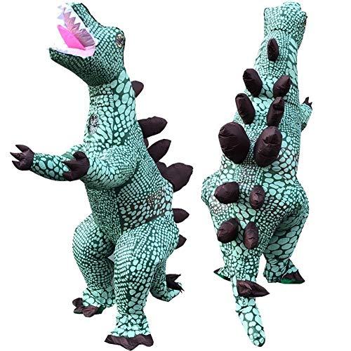 MOSHANG Disfraces de Halloween, Inflable Hombres Adultos Batas, Pantalones adecuados for 5.1 pies -6.4 pies, Vestido de Fiesta de Navidad Stegosaurus (Color : SYXD02)
