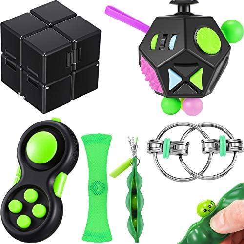 6 Pieces Handheld Mini Fidget Toy Set Include 12 Side Fidget Toy Cube Infinity Cube Cam Fidget product image