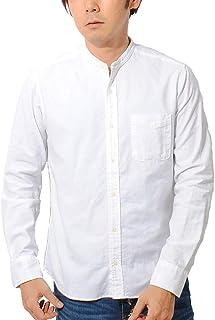ciao (チャオ) 日本製 オックスフォード バンドカラーシャツ 長袖 メンズ