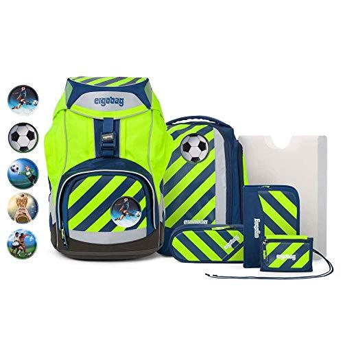 Ergobag Pack Set 7tlg IllumiBär mit Wunschkletties Fußball