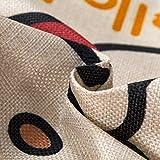Cubierta de Coche de Lino de algodón PP Asiento de llenado Abrazo Almohada (Random...