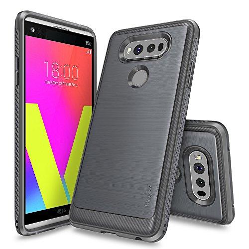 LG V20 Case, Ringke [Onyx] [Resilient Strength] Flexible Durability, Durable Anti-Slip, TPU Defensive Case for LG V20 - Mist Gray