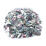 Diamante de Resina Acrílica para Coser Cristal Imitado con 2 Agujeros Botones de Cristal en Forma de Gota para Decoración Costura DIY 200PCS(9×18mm-AB)