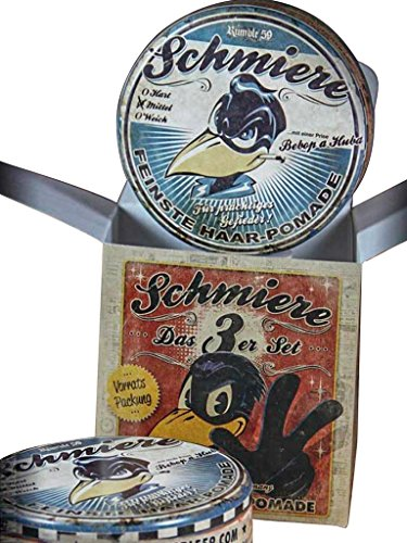 Schmiere - 3er Set Pomade Mittel - Pomade from Rumble59