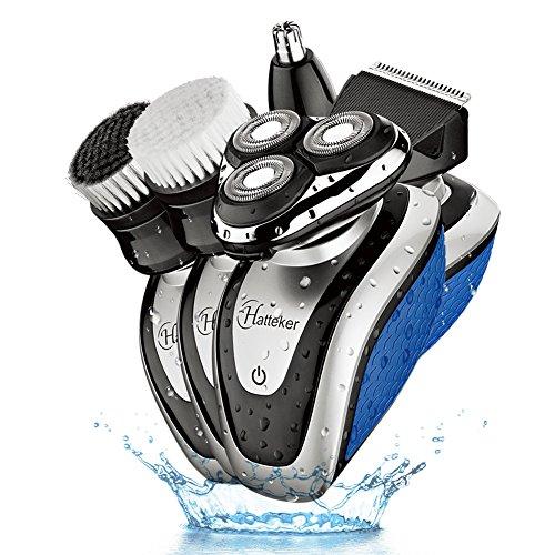 Hatteker Electric Shaver Razor Dry Wet Beard Trimmer for men 5 in 1...