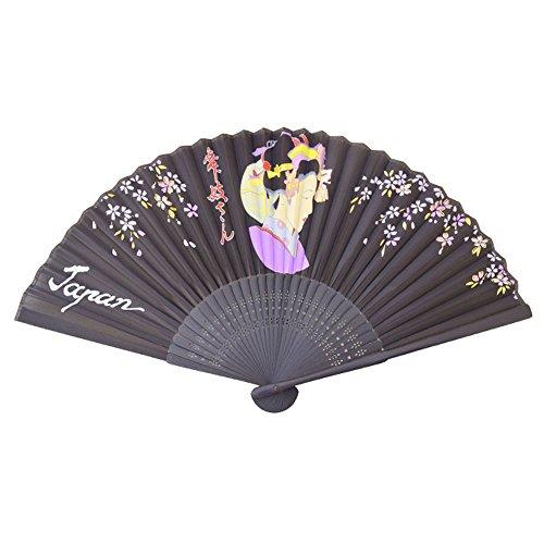 Japonesa Auténtica Abanicos/ Ventilador: Maiko-San(Silk Model)- Colección Verano caliente