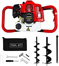 ECO-WORTHY Gas Powered 52CC Post Hole Digger for Fence and Planting with Extention and 6