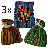 Ethical Roots Poupées inquiétantes – Commerce équitable 3 x sacs de 6 mini poupées inquiétantes dans un sac cadeau – Fabriqué à la main et d'origine éthique