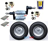 leisure MART 550kg Avonride trailer suspension units supplied with 4 inch PCD hubs, 10 inch 4PR wheels, plates and grease (Set 8) Pt no. LMX1902