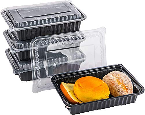 25 Pack BulkPack Meal Prep Containers with Lids, Reusable Food Delivery Storage Containers, Bento Lunch Box   BPA Free   Stackable   Microwave/Dishwasher/Freezer Safe (26oz)