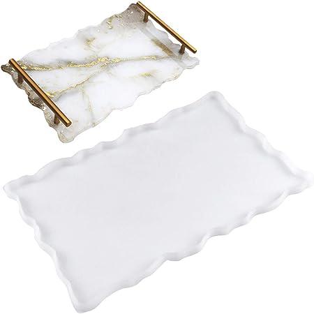 ovale vassoio vassoio in resina epossidica Stampo grande in silicone per colazione fai da te vassoio per t/è Yalulu stampo per vassoio in resina