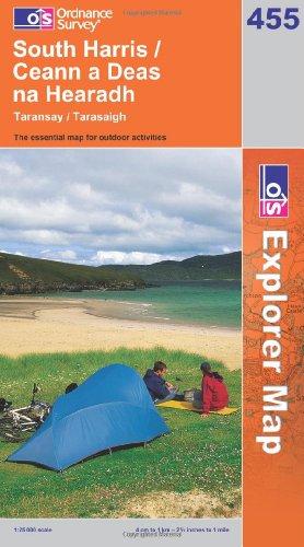 OS Explorer map 455 : South Harris / Ceann a Deas na Hearadh