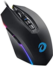 DAREU Gaming Mouse Wired 7 Programmable Buttons RGB Chroma Backlit 6 DPI Settings Up to 10000 DPI Comfortable Grip Ergonomic Optical Mouse for Laptop PC Computer Games & Work -Black(EM925)