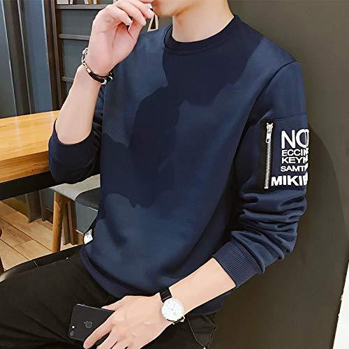 Sweatshirt Suéter Moda para Hombre Sudadera con Capucha Impresa Sudaderas con Capucha Bolsillos Laterales con Cremallera Sudaderas para Adolescentes Sudaderas para Hombres Ropa XXL Blue6702