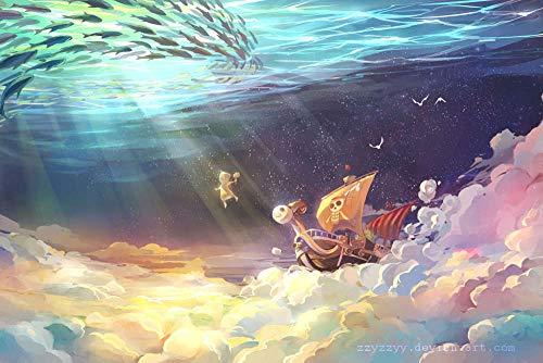 GUANGMANG Posters De Películas De Póster One Piece: Monkey D.Luffy Anime Rompecabezas Tabletas Adultos Juego Juguete Pzas Puzzle Impossible Departamento Decoracion Niño 1000 Pieza