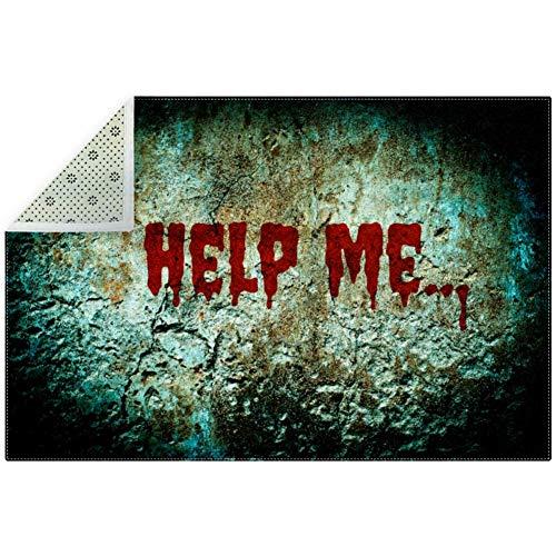Indoor Absorbat Door Mat, Help Me Bloody Scary Wall, 79 x 59 Inch Indoor Outdoor Mat Doormat