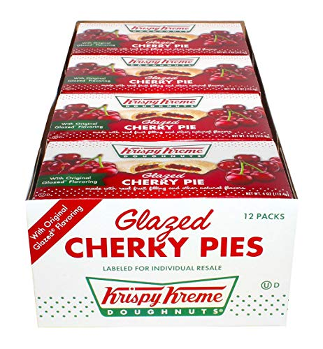 Krispy Kreme Glazed Cherry Pie 4 Ounces  12 per Pack