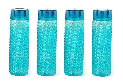 Blazing Star Water Bottle for Fridge 1 Litre Plastic for Kids for School Office Light Weight Leakproof Drinking in Combo Offer Water Bottle for Fridge (Blue, 4)