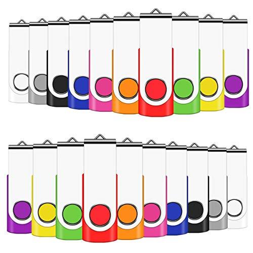 EASTBULL USB-Sticks 4GB 50 stück USB 2.0 Speicherstick Memory Stick Flash Drives Daten Mehrfarbig (4GB, Mehrfarbig-50)