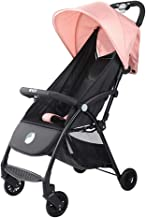 ZL Stroller Pushchair Lightweight Stroller, Travel One Step Design for Opening and Folding,Height Adjustable Push Handle,from Birth to 25 Kg,Pink