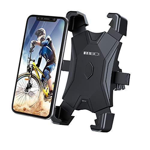 Meidi - Soporte universal para teléfono de bicicleta de liberación de una tecla compatible con smartphones, tablets y GPS de 4,7 a 6,5 pulgadas