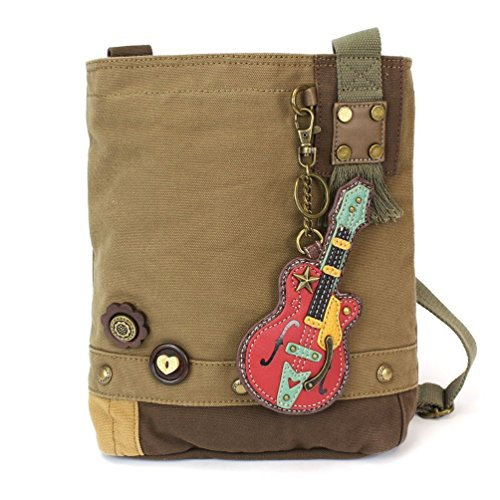 Chala Guitar Patch Crossbody Bag, Olive