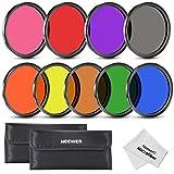 Neewer - Set di filtri colore per obiettivi fotocamera, filettatura da 58 mm, include ross...