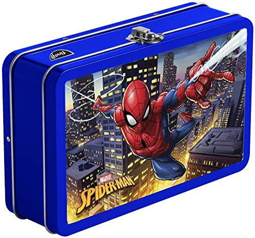 Find It Tin 3D Pencil Box and School Supplies Storage, Spiderman