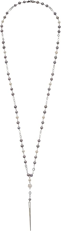 Chan Luu Grey Pearl Dagger Necklace