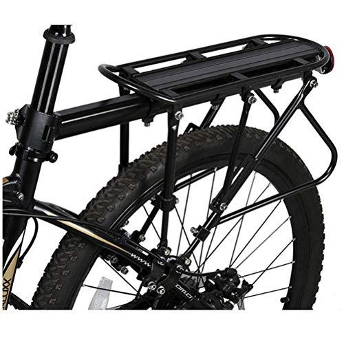 DGHJK Portaequipajes para Bicicletas con cojinetes sólidos Portaequipajes de Bicicleta Ajustable Universal, portaequipajes para Ciclismo, portaequipajes para Asiento Trasero de 220 LB