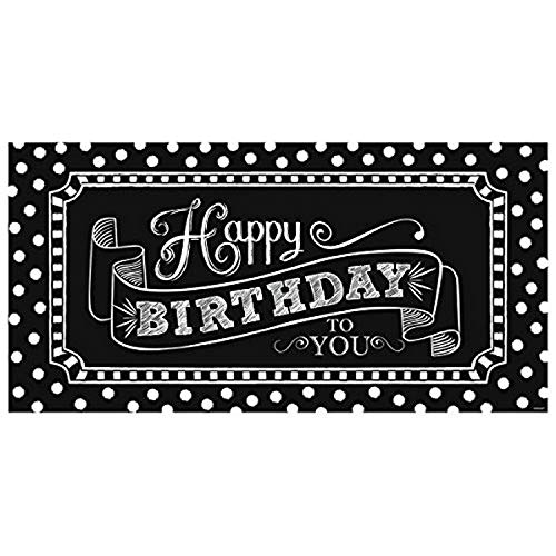 amscan Giant Party Sign | Birthday | Black & White Collection (120169)