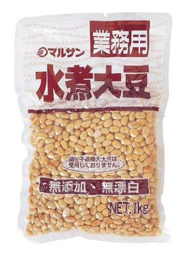 マルサン 業務用 カナダ産 水煮大豆 1Kg [5334]