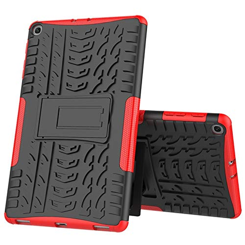 RZL PAD & TAB cases For Samsung Galaxy Tab S5E 2019 T720 T725 10.5inch, Heavy Duty 2 in 1 Tablet case for Tab S5e 10.5 SM-T720 Shockproof Stand Cover+pen (Color : Red)