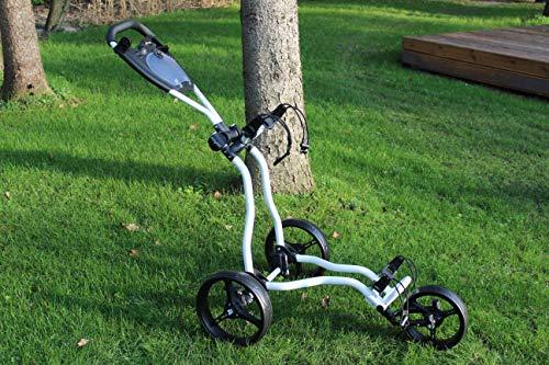 Trendkontor Golftrolley ELREY Bolt Weiss/schwarz 3-Rad Trolley Golf