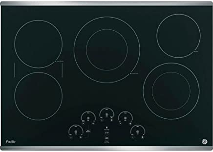GE PP9030SJSS 30 Inch Smoothtop Electric Cooktop with 5 Radiant, Left-Side Bridge SyncBurners