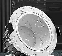 ダウンライト、埋め込み式防水LEDライト、防水および防曇防眩ダウンライト、アルミニウムシーリングライト、トイレ、バスルーム、キッチン
