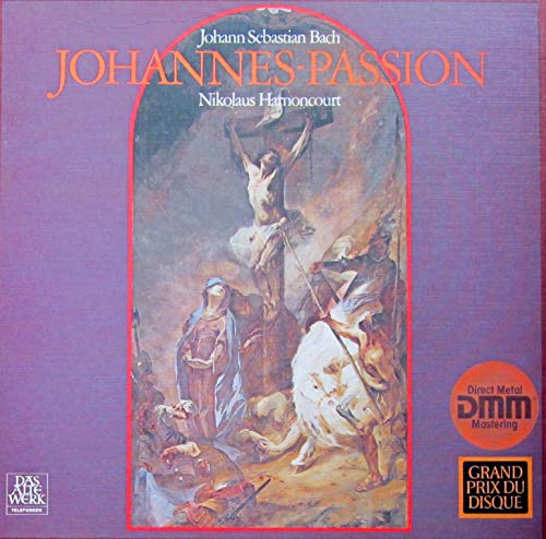 Bach: Johannes-Passion (erste Schallplattenproduktion in Originalbesetzung mit Originalinstrumenten) [Vinyl Schallplatte] [3 LP Box-Set]