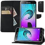 MOELECTRONIX Buch Klapp Tasche Schutz Hülle Wallet Flip Hülle Etui passend für Samsung Galaxy J3 2016 DuoS SM-J320F/DS