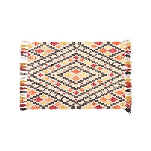 CarPET oranje diamant Indiase handgemaakte wol woonkamer bank salontafel deken Amerikaanse geometrie verdikking 0.6x1.1m handgeweven tuin dikte 20mm